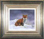 Carl Whitfield, Original oil painting on panel, Winter Fox