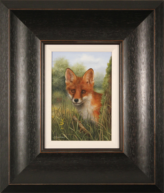 Carl Whitfield, Original oil painting on panel, Fox Cub