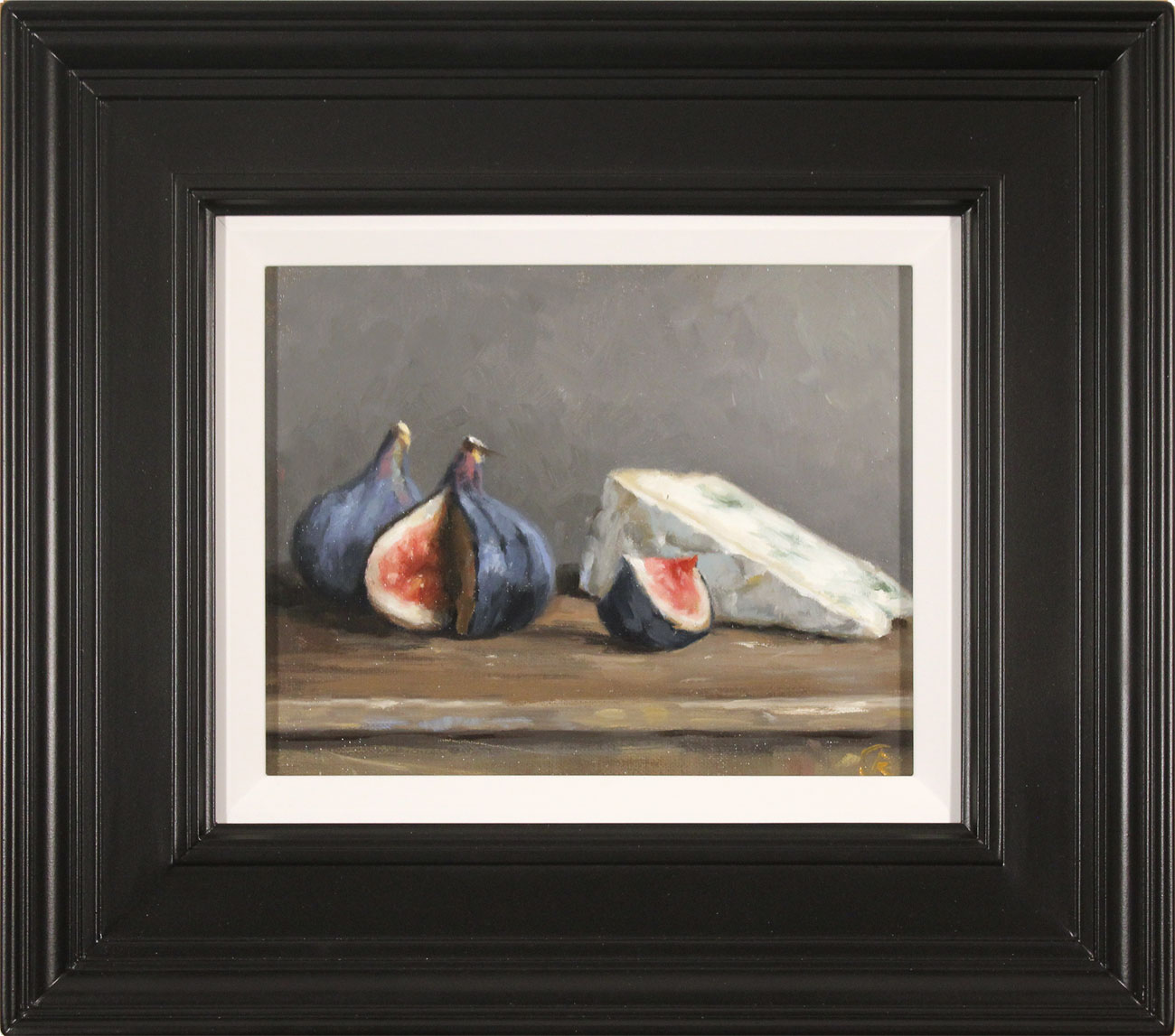 Caroline Richardson, Original oil painting on canvas, Figs and Blue Cheese Click to enlarge