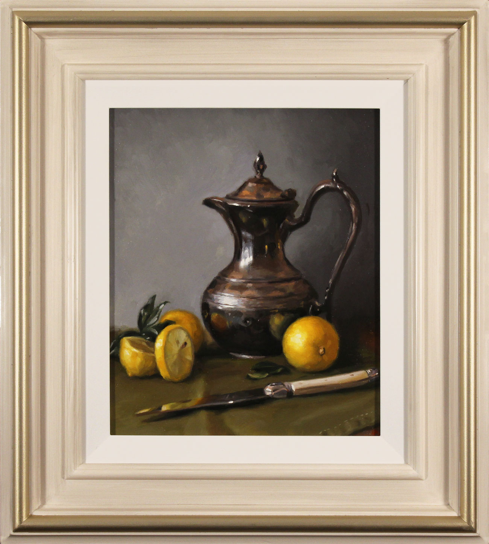Caroline Richardson, Original oil painting on panel, Lemon and Sage Click to enlarge