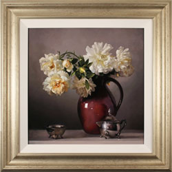 Caroline Richardson, Original oil painting on canvas, Jug of Roses