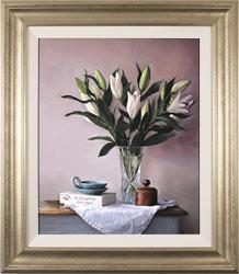 Caroline Richardson, Original oil painting on panel, Lily Bouquet Medium image. Click to enlarge