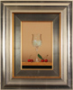 Casas, Original oil painting on panel, Glass Fruits
