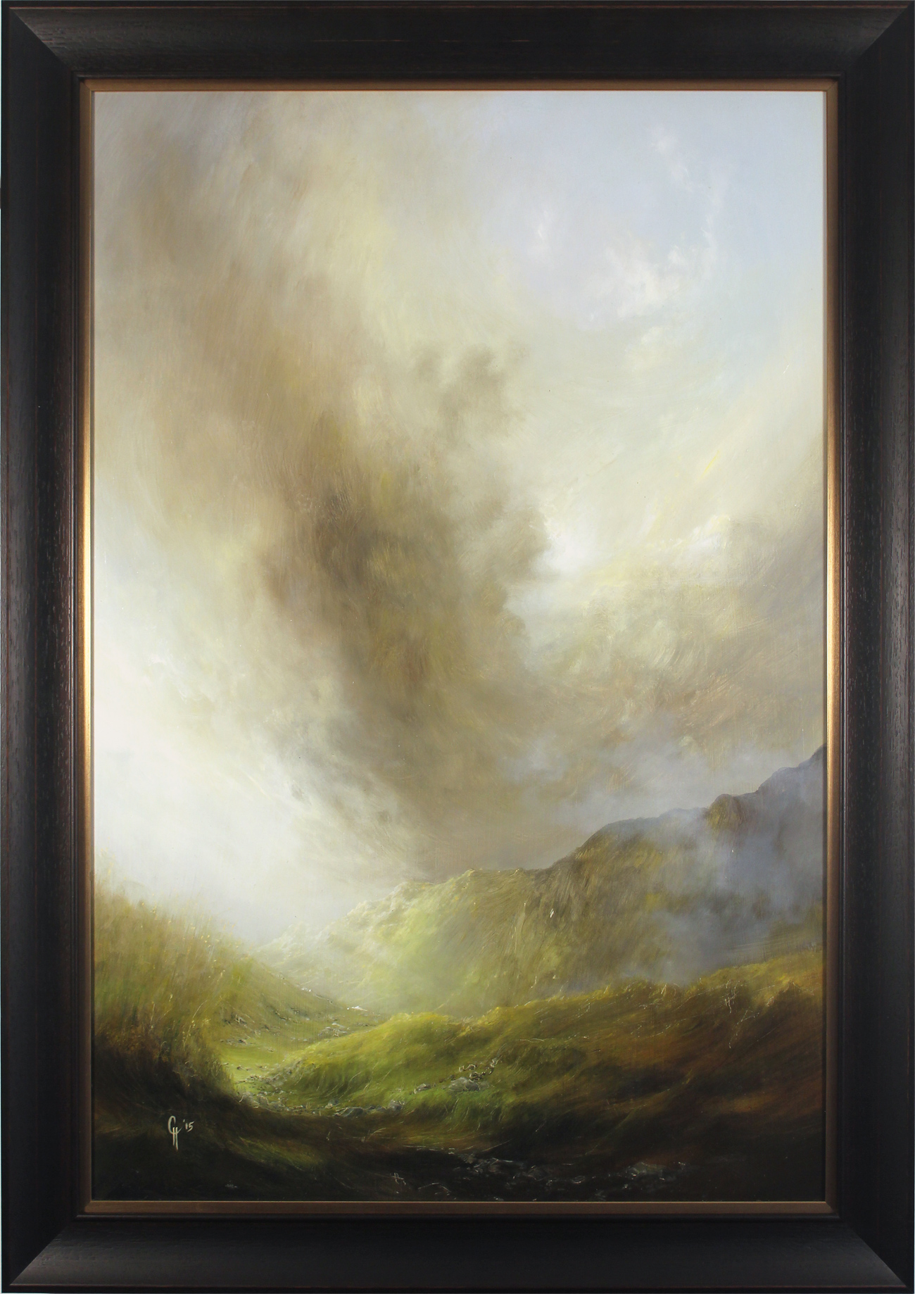 Clare Haley, Original oil painting on panel, Down to the Valley from the Mossy Path Click to enlarge