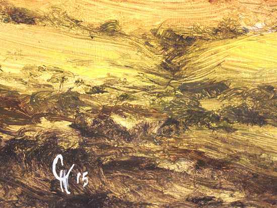 Clare Haley, Original oil painting on panel, Endless Moorland Signature image. Click to enlarge