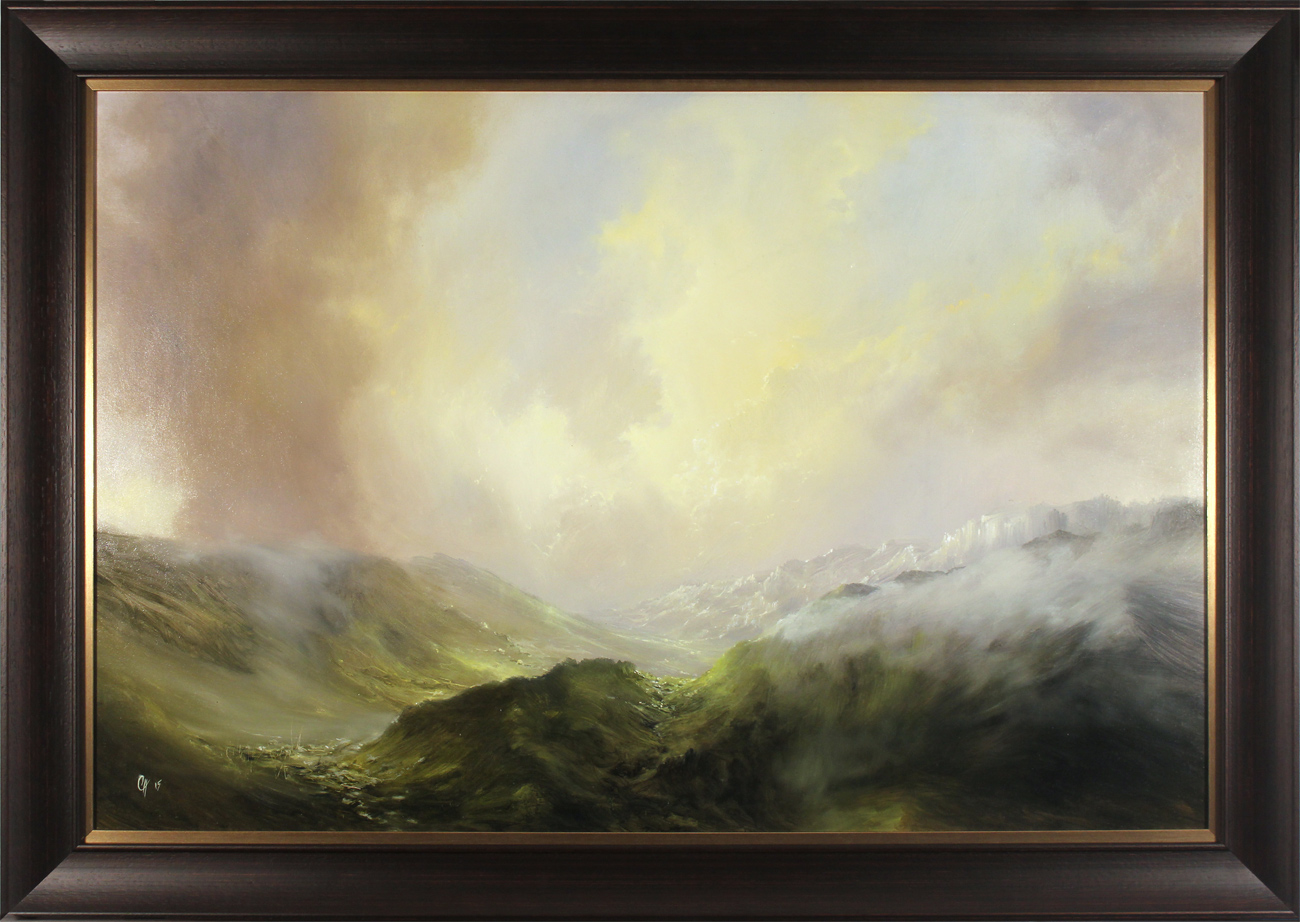 Clare Haley, Original oil painting on panel, The Valley Begins to Wake Click to enlarge
