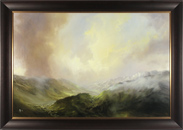 Clare Haley, Original oil painting on panel, The Valley Begins to Wake