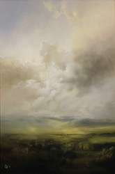 Clare Haley, Original oil painting on panel, Come Rain or Shine