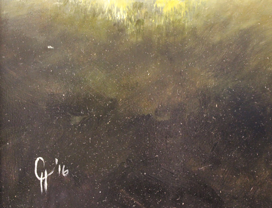 Clare Haley, Original oil painting on panel, All Will Be Revealed Signature image. Click to enlarge