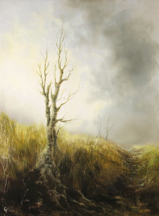 Clare Haley, Original oil painting on panel, The Last Season No frame image. Click to enlarge