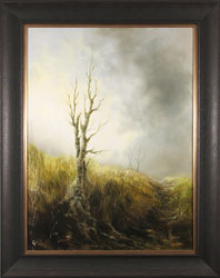 Clare Haley, Original oil painting on panel, The Last Season