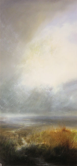 Clare Haley, Original oil painting on panel, Lightburst