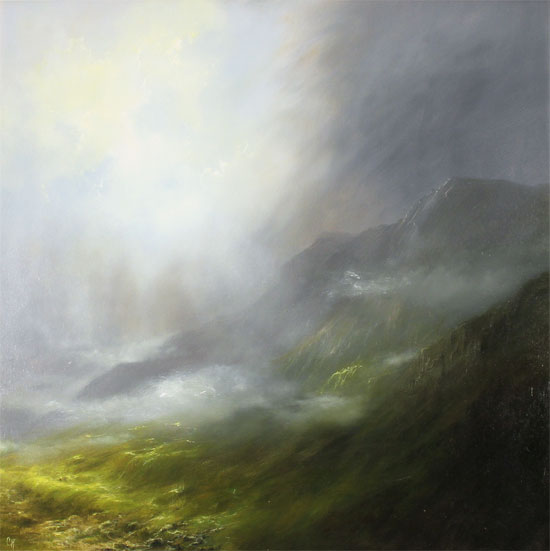 Clare Haley, Original oil painting on panel, Glorious Day No frame image. Click to enlarge