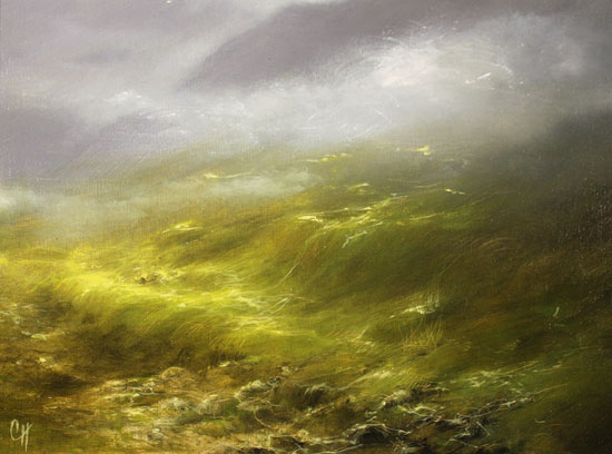 Clare Haley, Original oil painting on panel, Glorious Day Signature image. Click to enlarge