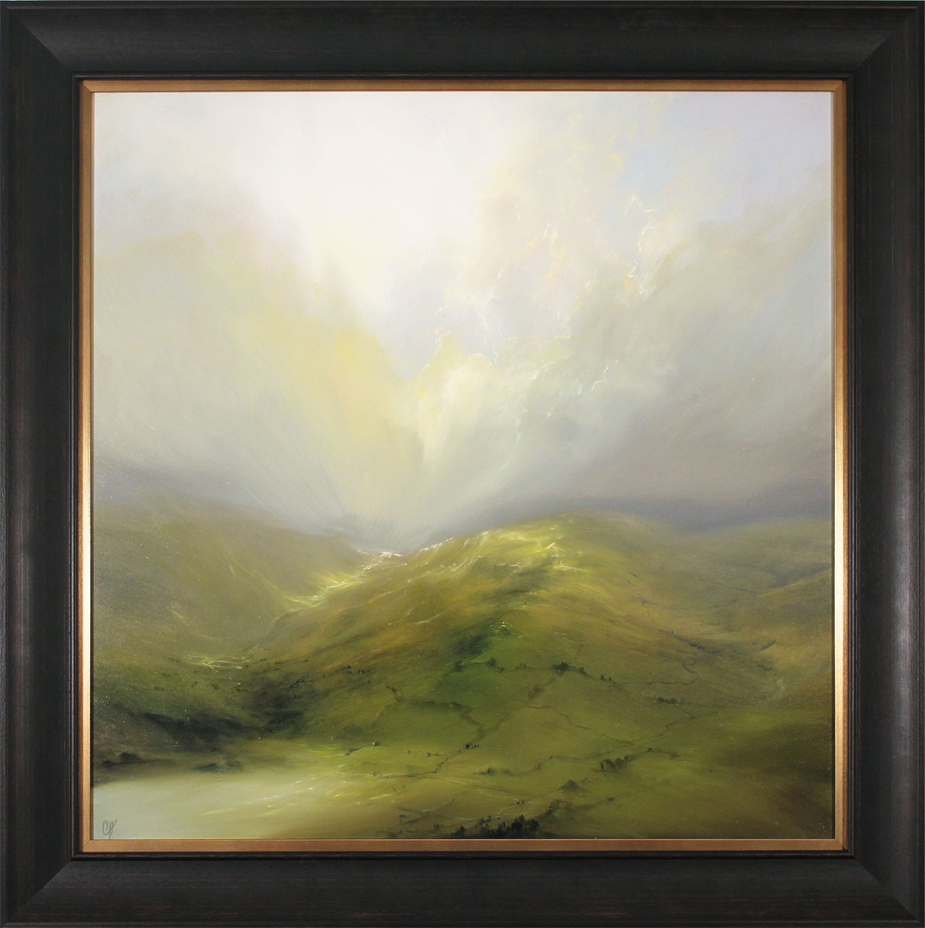 Clare Haley, Original oil painting on panel, Wide Open View Click to enlarge