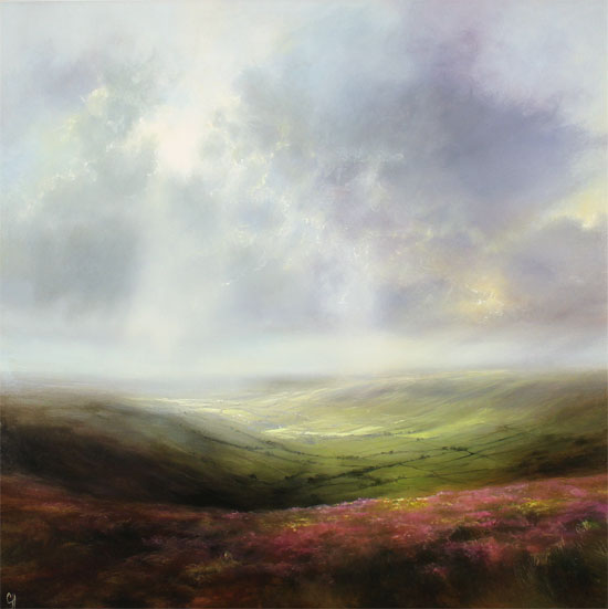 Clare Haley, Original oil painting on panel, A Fine Yorkshire Day No frame image. Click to enlarge
