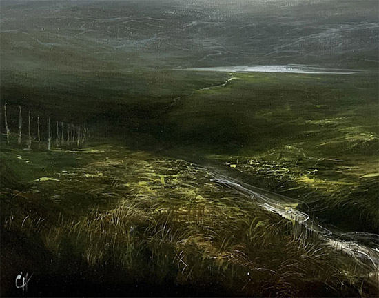 Clare Haley, Original oil painting on panel, Something in the Air Signature image. Click to enlarge