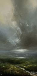 Clare Haley, Original oil painting on panel, Something in the Air
