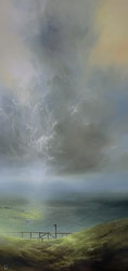 Clare Haley, Original oil painting on panel, On the Right Trail Medium image. Click to enlarge