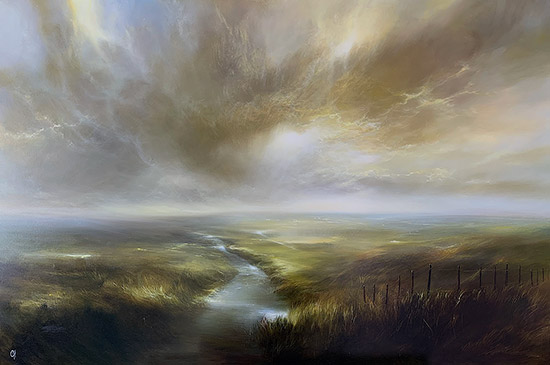Clare Haley, Original oil painting on panel, In the Light of the Morning Sun No frame image. Click to enlarge