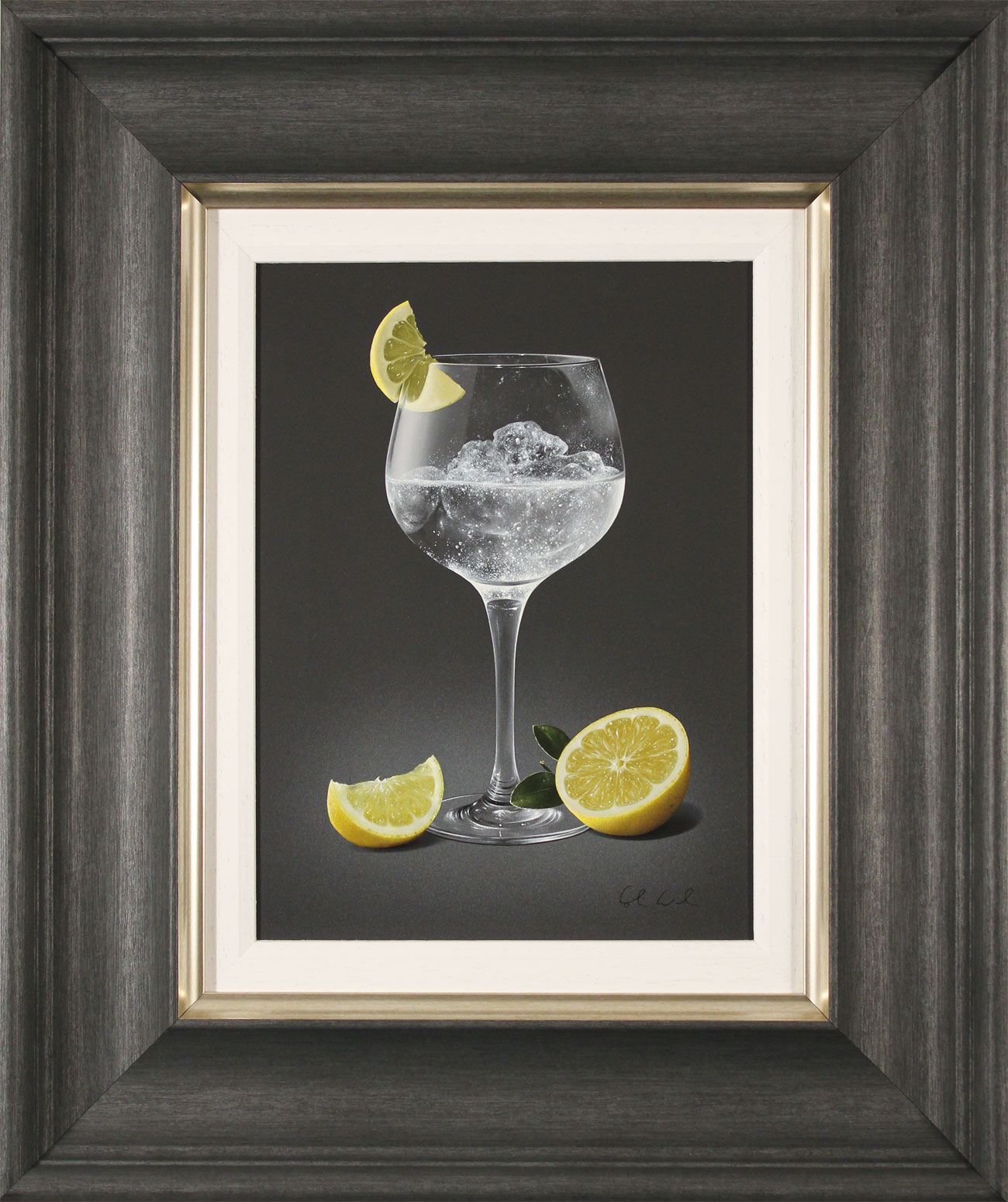 Colin Wilson, Original acrylic painting on board, Gin and Tonic with Lemon Click to enlarge