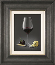 Colin Wilson, Original acrylic painting on board, Red Wine and Stilton Medium image. Click to enlarge