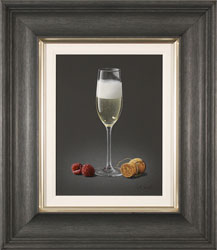 Colin Wilson, Original acrylic painting on board, Champagne and Raspberries