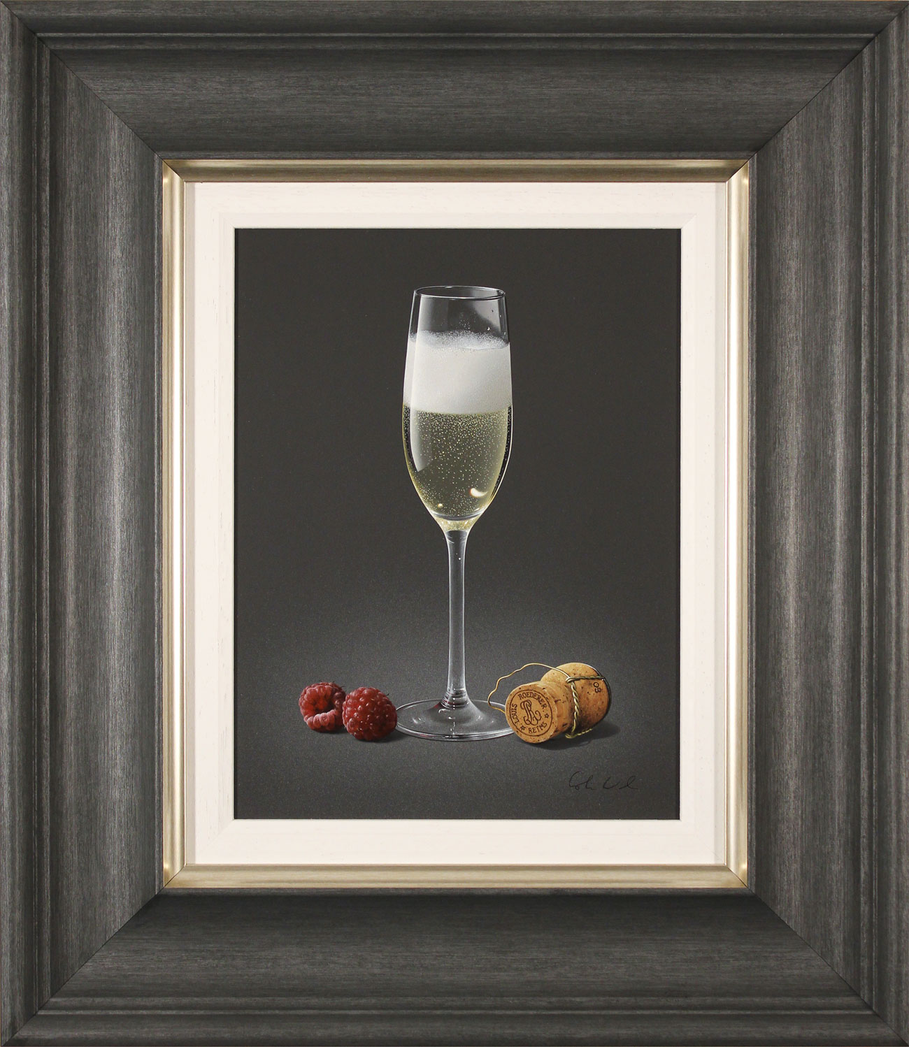 Colin Wilson, Original acrylic painting on board, Champagne and Raspberries Click to enlarge
