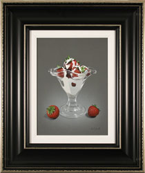 Colin Wilson, Original acrylic painting on board, Strawberries and Cream