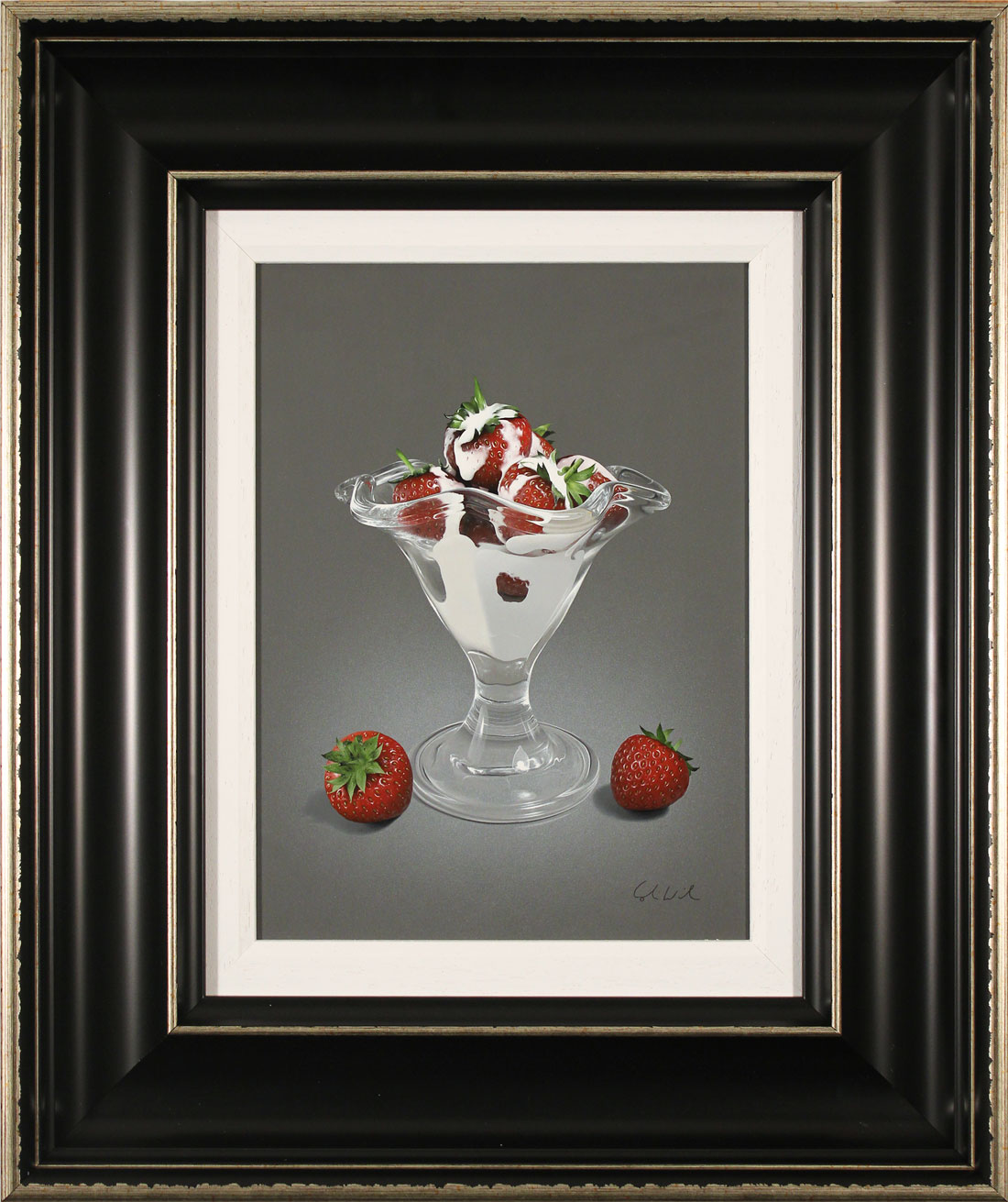 Colin Wilson, Original acrylic painting on board, Strawberries and Cream Click to enlarge