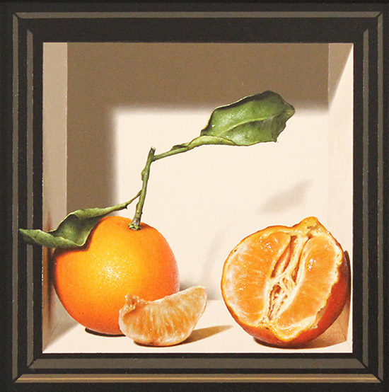 Colin Wilson, Original acrylic painting on board, Sicilian Oranges  No frame image. Click to enlarge