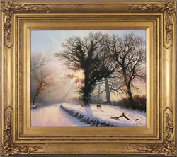 Daniel Van Der Putten, Original oil painting on panel, Road to Farnley, Otley, Yorkshire