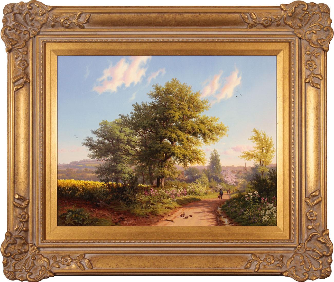 Daniel Van Der Putten, Original oil painting on panel, Road to Daventry in Spring Click to enlarge