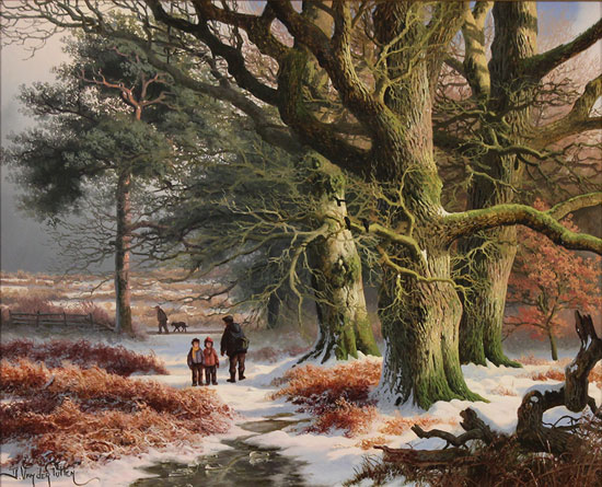 Daniel Van Der Putten, Original oil painting on panel, Jack Hill Lane, Otley, Yorkshire No frame image. Click to enlarge