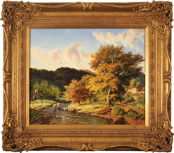 Daniel Van Der Putten, Original oil painting on panel, Autumn, Crackpot, Swaledale, North Yorkshire Medium image. Click to enlarge