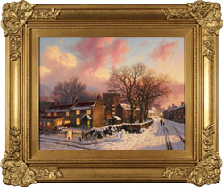 Daniel Van Der Putten, Original oil painting on panel, Evening at Lockton, North Yorkshire Medium image. Click to enlarge