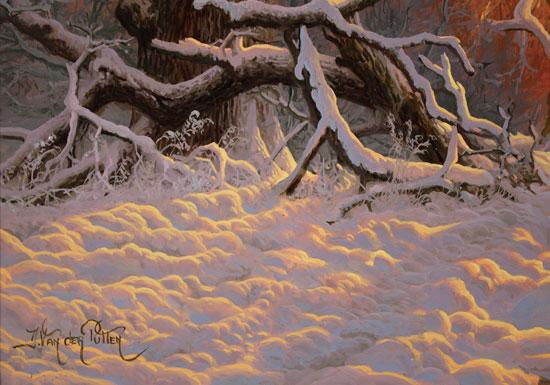 Daniel Van Der Putten, Original oil painting on panel, Fox in Mantles Heath Wood Signature image. Click to enlarge