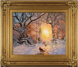 Daniel Van Der Putten, Original oil painting on panel, Fox in Mantles Heath Wood