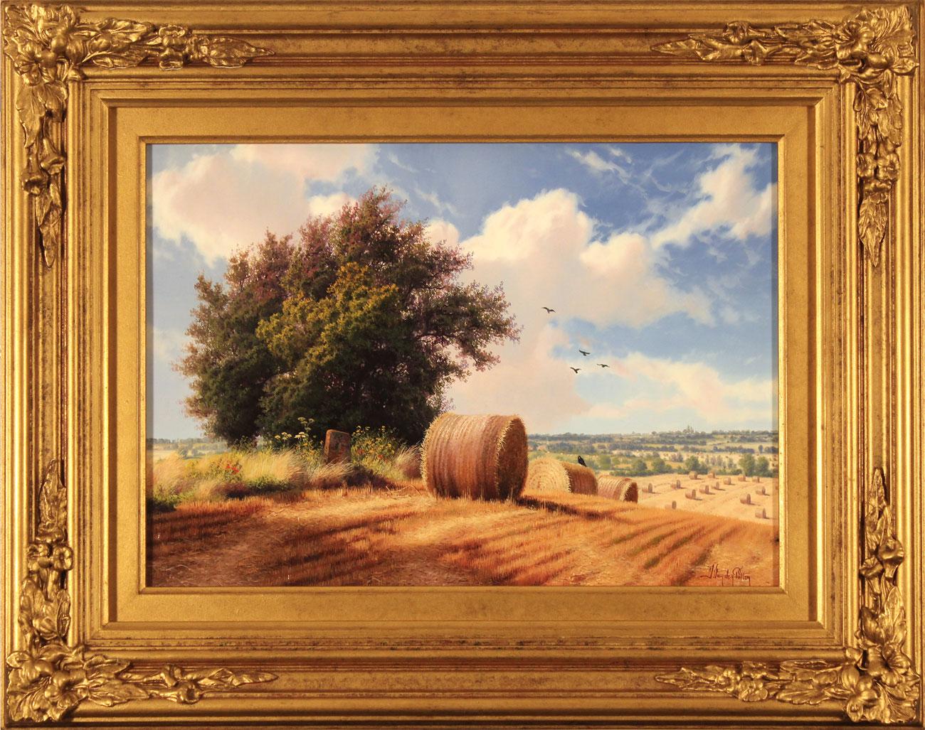 Daniel Van Der Putten, Original oil painting on panel, Summer on Weedon Hill Click to enlarge