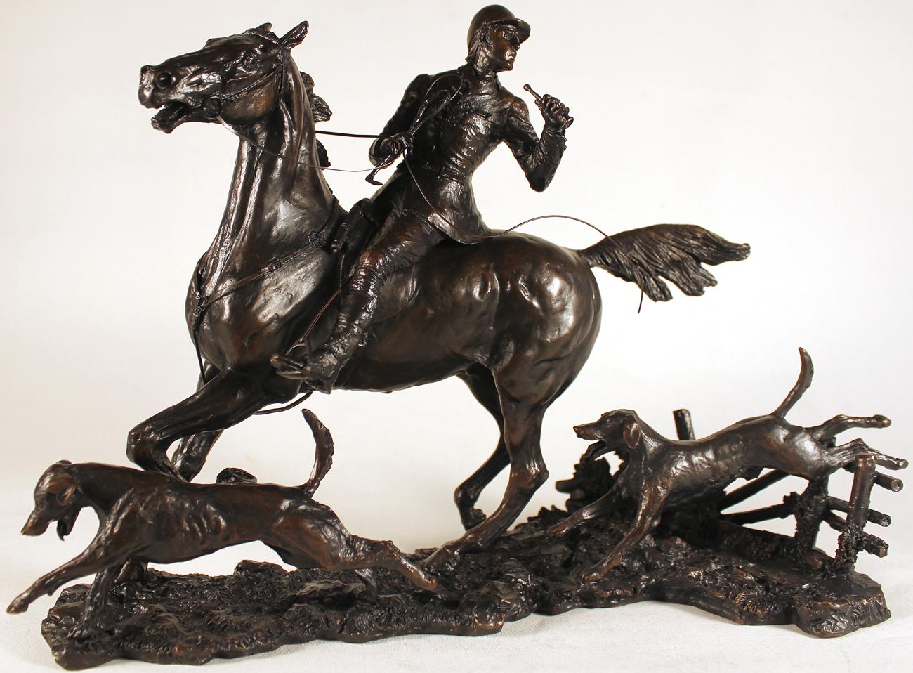 David Geenty, Bronze, Doubling the Horn Click to enlarge