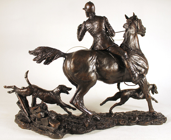 David Geenty, Bronze, Doubling the Horn No frame image. Click to enlarge