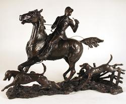 David Geenty, Bronze, Doubling the Horn Medium image. Click to enlarge