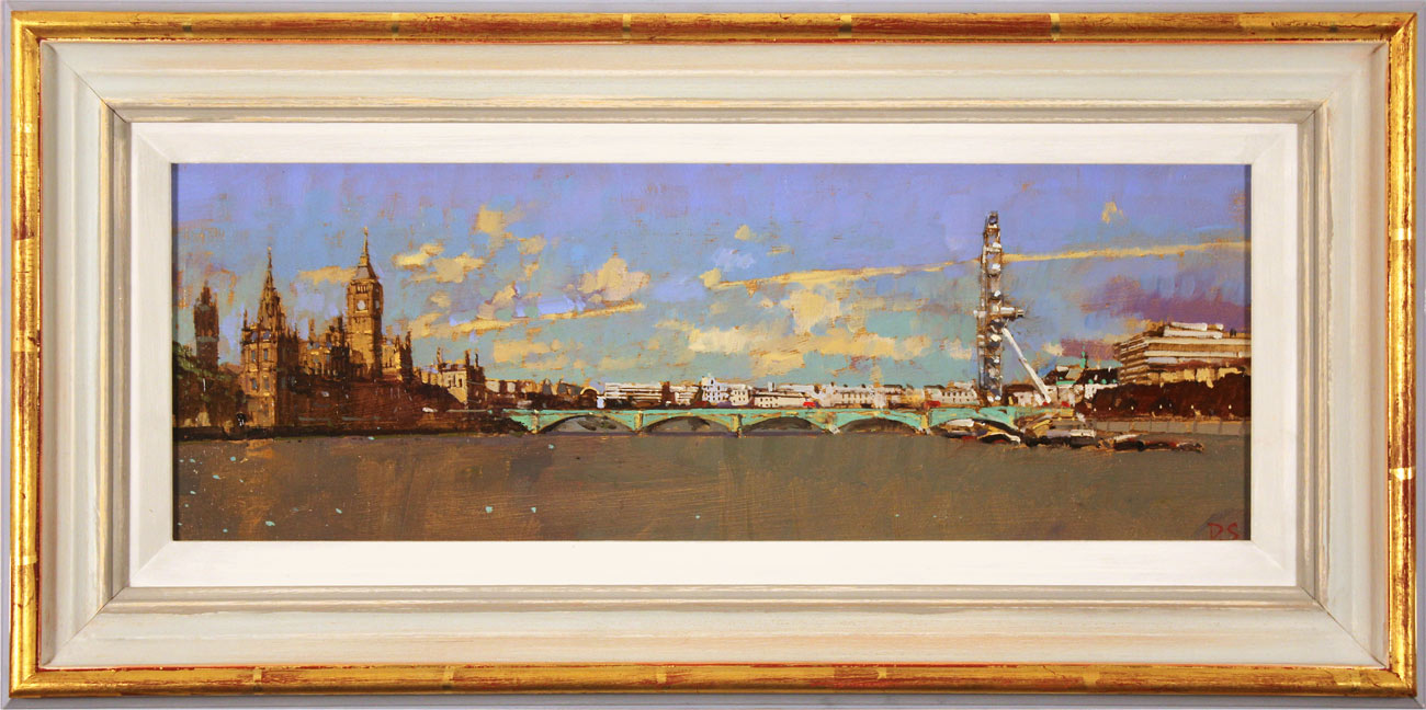 David Sawyer, RBA, Original oil painting on panel, Westminster, View from Lambeth Bridge Click to enlarge