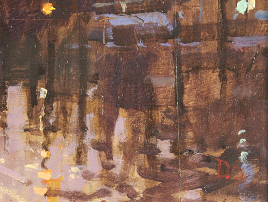 David Sawyer, RBA, Original oil painting on panel, Sunset Reflections, Grand Canal, Venice Signature image. Click to enlarge