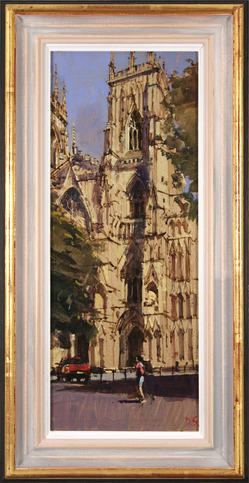 David Sawyer, RBA, Original oil painting on panel, The Red Truck, York Minster Click to enlarge