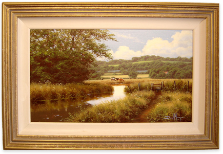 David Morgan, Original oil painting on canvas, Country Scene