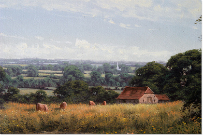 David Morgan, Oil on canvas, Landscape