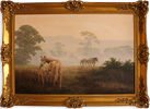 David Morgan, Original oil painting on canvas, Mare and Foal