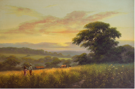 David Morgan, Original oil painting on canvas, Landscape