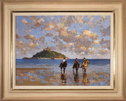 Dianne Flynn, Original acrylic painting on canvas, Mount's Bay Evening Medium image. Click to enlarge